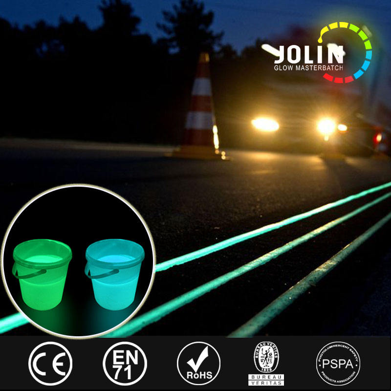 No pollution and Non-toxic glow in the dark brush paint and spray paint photoluminescent road paint luminous coating