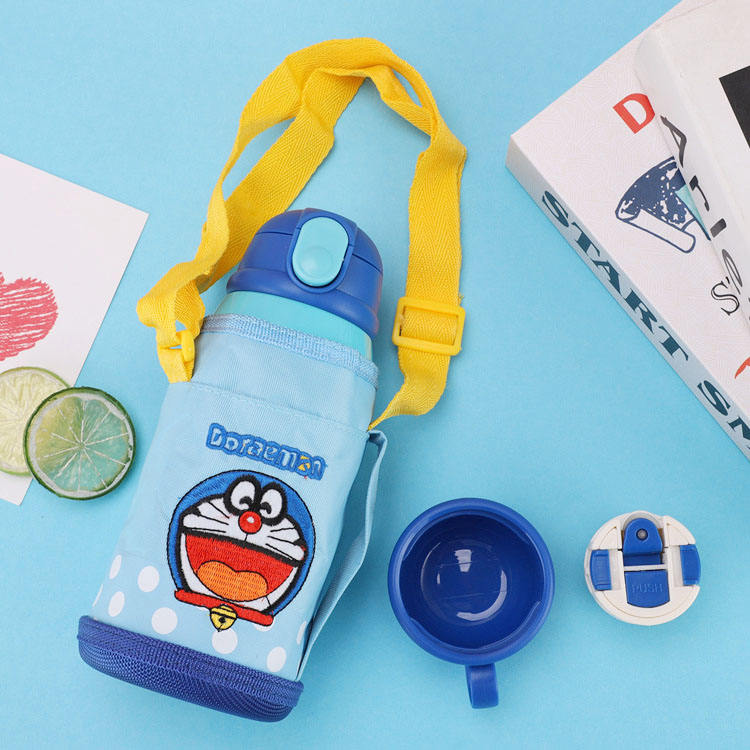 Wholesale Cartoon Kindergarten with suction Tube Insulation kettle Portable to prevent ironing Children cup