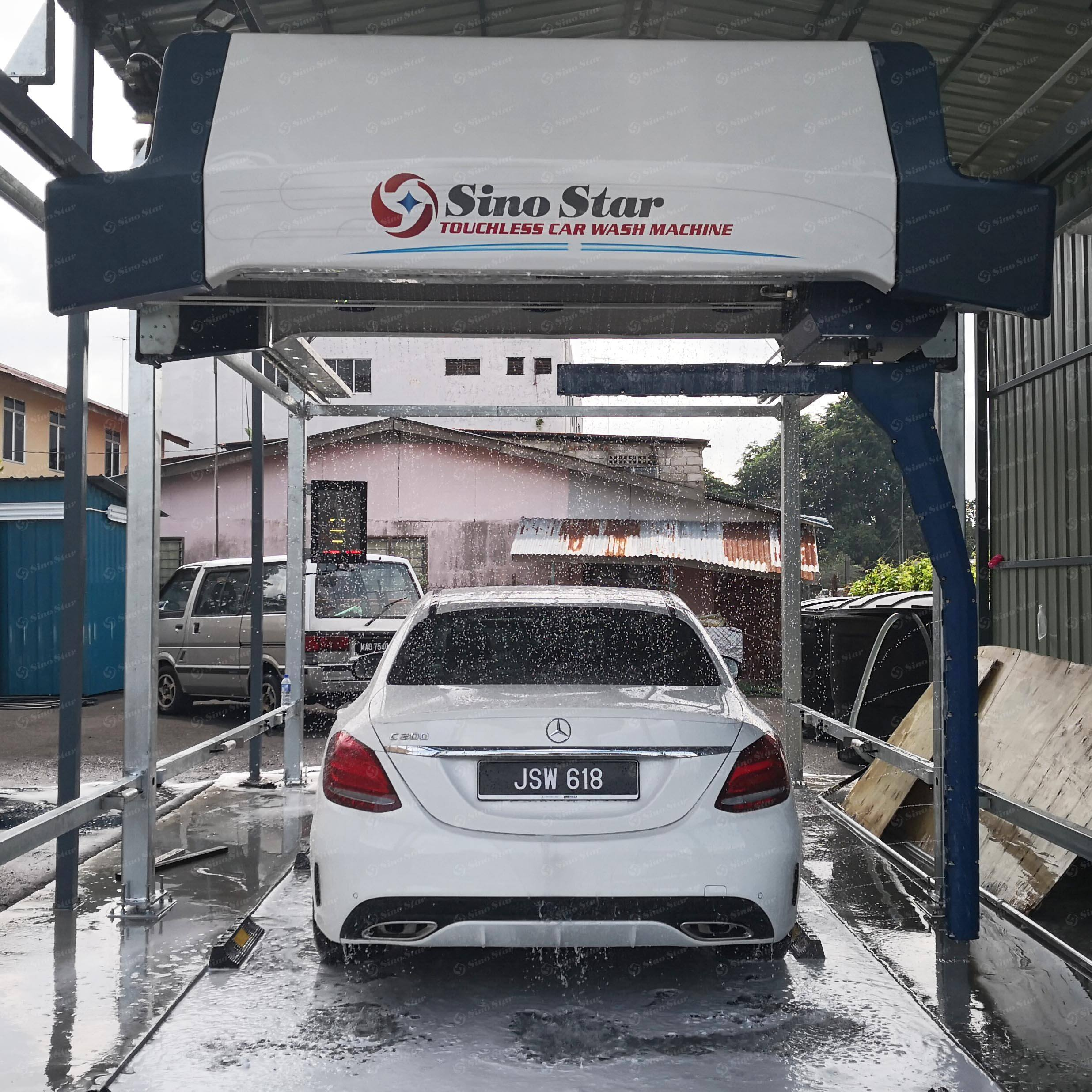 SINO STAR car wash machine fully automatic high pressure steam cleaning machine With Dryer brushes or touchless free