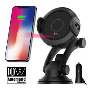 Adjustable Mobil Mount Air Vent Holder Qi Bersertifikat Wireless Charger Iphone X, 8/8 PLUS