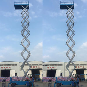 VR-PW-B 7M-16M Scissor Mobile Scissor Lift aerial Working platform With Driving Motor