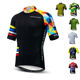 wholesale Custom Bike Clothing Male MTB Short Sleeve Shirt Bicycle Riding Top Quick Dry Polyester Cycling Jersey Men