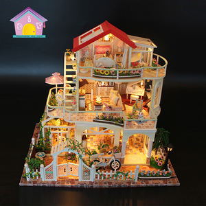 Supply to chain bookstore new diy miniature house model toy,miniatures for dollhouse