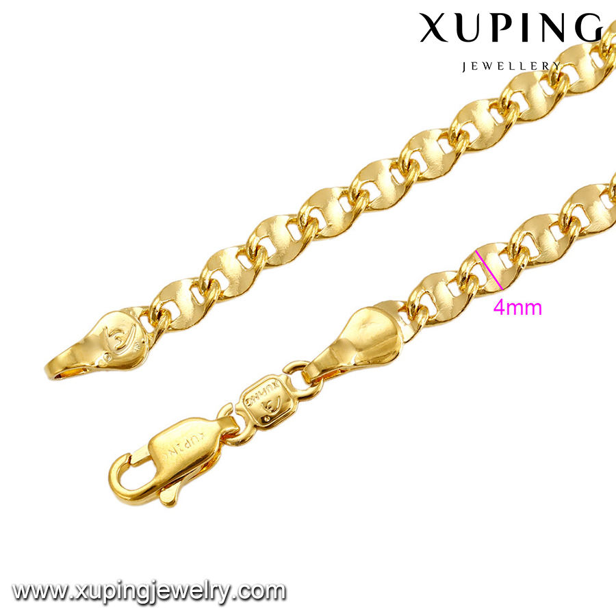 Xuping new design wholesale jewellery necklace 24k dubai gold chains for men