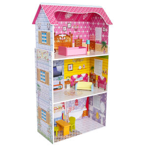 High Quality Dollhouse For Children Toys Diy Handmade Popular Educational 3d Wooden Doll House