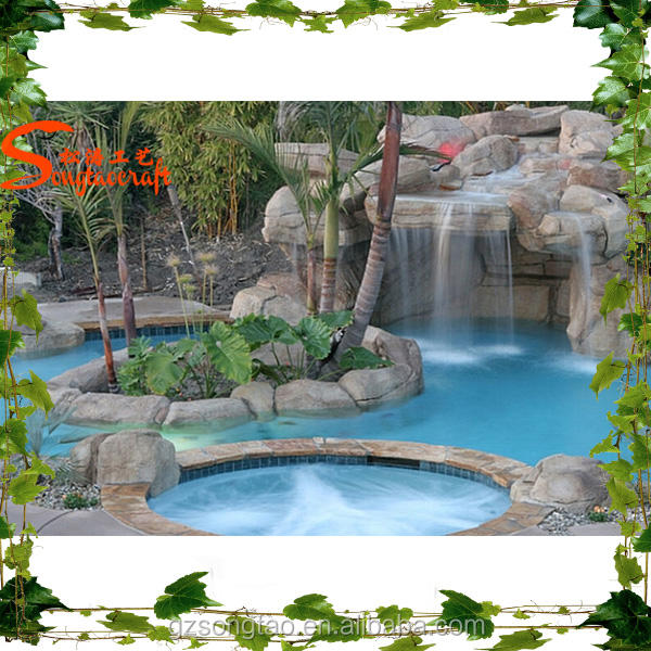 New Design from Songtao company Custom waterfall Garden outdoor water fountain