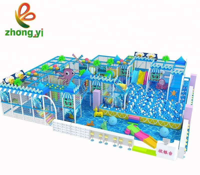 Cheap best plastic indoor children playground equipment places