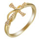 wholesale hot sale gold plated gold color cross rings engagement rings for women