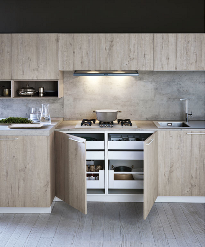 cement laminate kitchen cabinet chipboard kitchen direct from china
