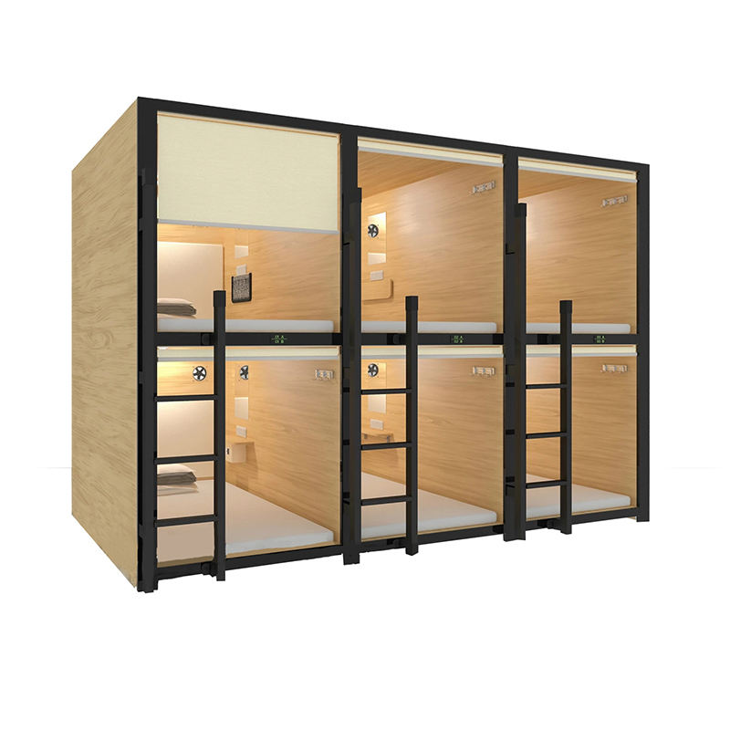 2019 New design metal bunk bed for hostel with lockers