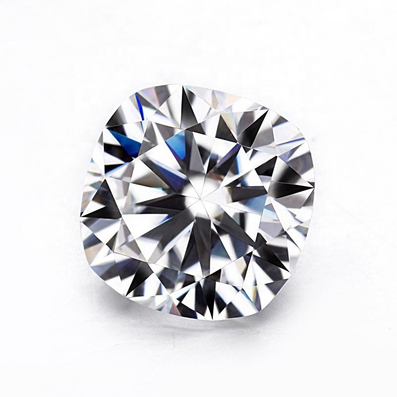 Kussen Brilliant Cut 6.5X6.5 Mm Clear White Moissanite <span class=keywords><strong>Diamant</strong></span> <span class=keywords><strong>Tester</strong></span> Voor Engagement Ring.
