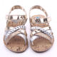 High quality bling lace design leather baby sandals toddler