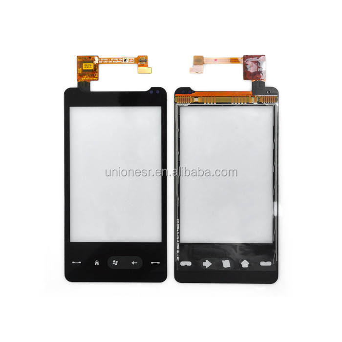 Tela de vidro para htc hd mini t5555, digitalizador touchscreen lcd de fábrica para htc hd mini t5555