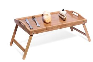 Waterproof Foldable Bamboo Breakfast Food Dinner Serving Bed Table Tray