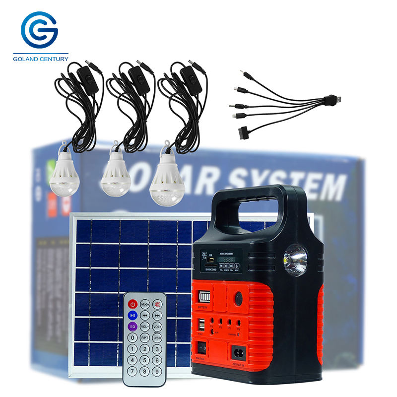 Portable lithium ion battery solar energy system 10w 6v all in one solar power generator for use in home and outdoor