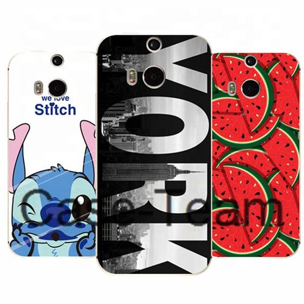 컬러 풀 한 Printing Case 대 한 htc One m8 M8 case, Soft TPU Case 대 한 htc One m8 M8 case, 만화 꽃 Case 대 한 htc One m8 M8 cover