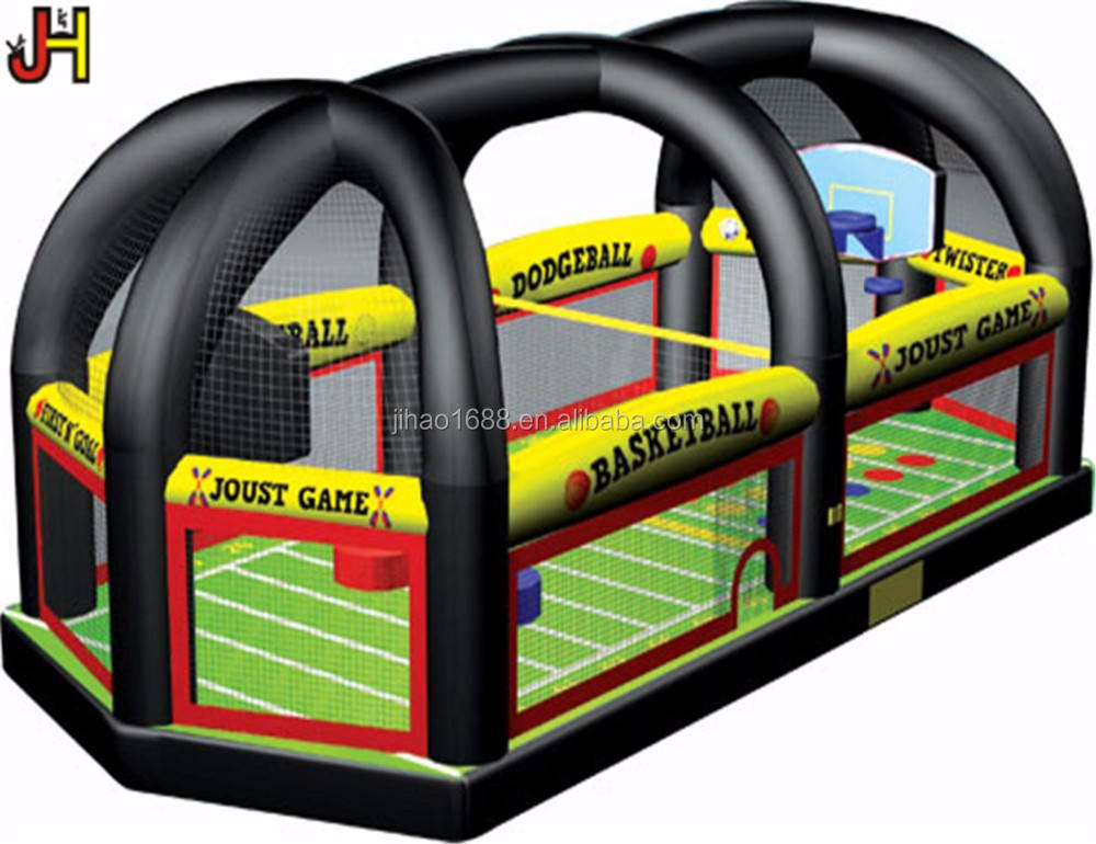 Inflatable Multi Sport Arena Bounce House All in One Sports Arena Games For Party