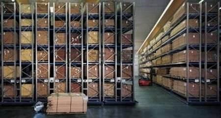 Almacén de estanterías de almacén de almacenamiento grande 3 profundidad retroceder estante estante