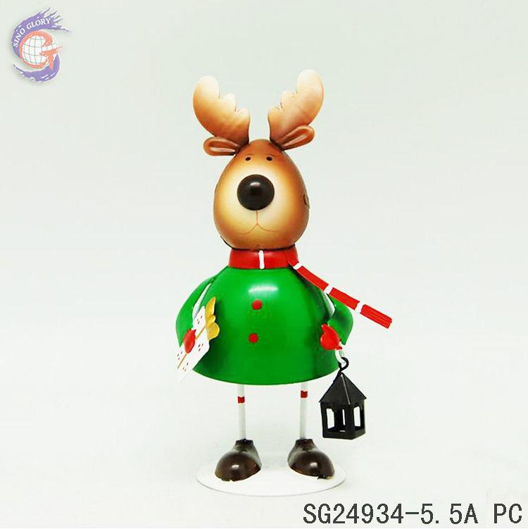 Небольшой размер Металл рождественские олени украшения для подарков