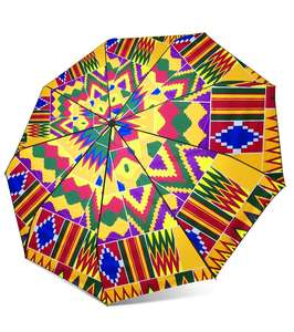 Shenbolen Fashion African Print Umbrella Waterproof Custom Auto Open Floding Sun Umbrella