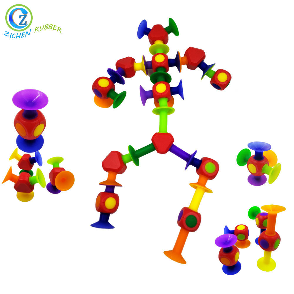 Multi Function Silicone Sucker Building Block Suction Toy