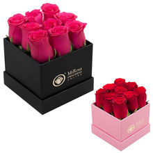 Custom packaging cheap shipping bulk square flower hat box