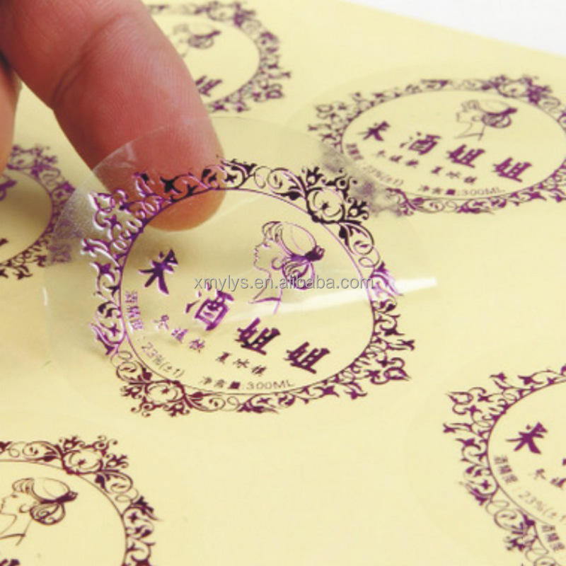 wholesale clear transparent round sticker sealing labels