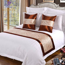 Townzi Wholesale high quality star hotel white plain 100% cotton comfortable king size 3 stripe hotel bed set