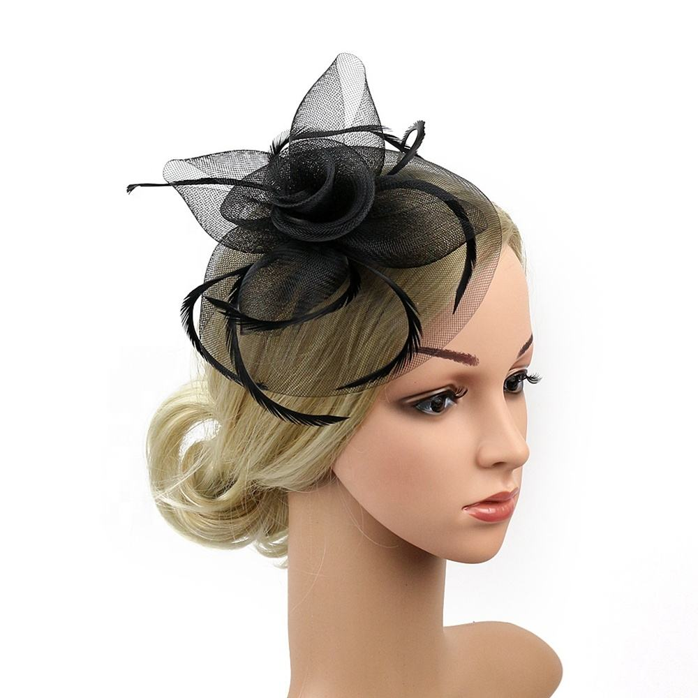 Elegant hair fascinators for weddings feather fascinator wedding