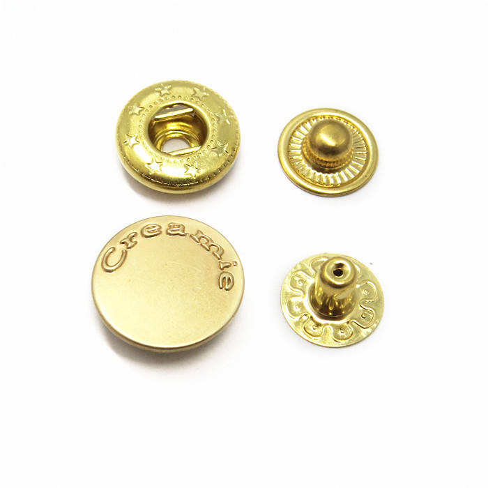 Engraved Four Parts Snap Button