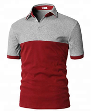 Custom 100% cotton men's polo shirt hit color block short sleeve shirt slim fit polo t shirts of various colors