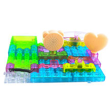 Building blocks educational electronic circuit kit with sound light