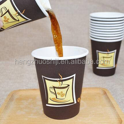 Disposable Cheap Paper Cup 6.5 Oz For Gano Cafe