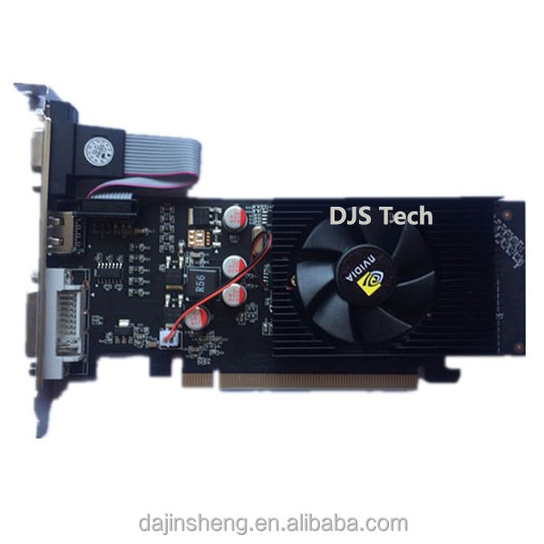 Cheap Ge GF 610 LP Graphic cards DDR2 1GB 64BIT Video cards