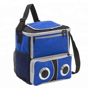 China wholesale custom picnic cooler lunch bag tote food delivery insulated cooler bag with Speaker