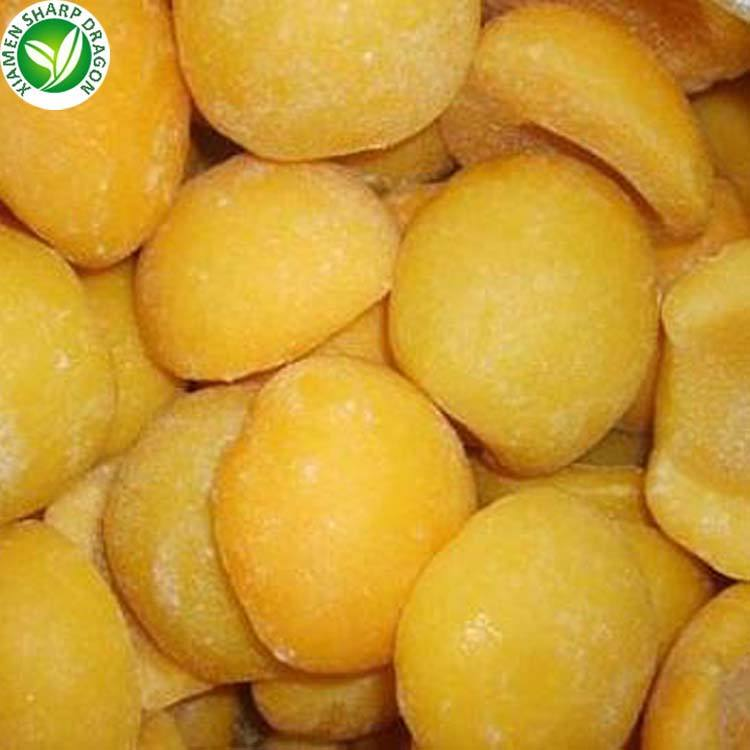 IQF wholesale fruit frozen yellow peach diced