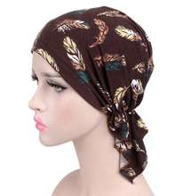New Women Bandana Pre Tied Chemo Hat Beanie Turban Headwear For Cancer Patients