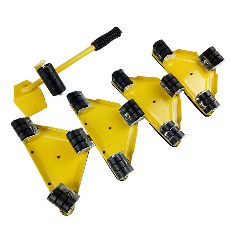 set of 5pcs triangular iron movers convenient household furniture mover lifter heavy furniture & appliance lifting tools sliders