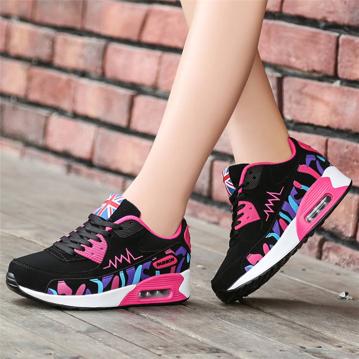 Autumn Wholesale Women Students Casual Air Cushion Sports Hiking Sneakers