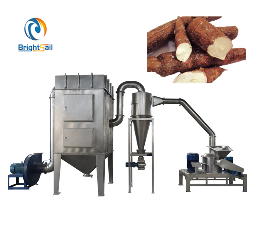 Hot sale Cassava flour super fine powder grinder mill processing machinery