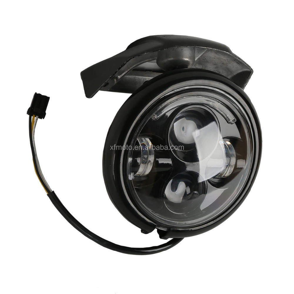 """TCMT XF2906286-B 5.75"""" Black Headlight & Visor Bracket For Harley Sportster XL 883 1200"""