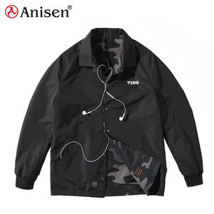 reversible men casual clothing camo outdoor waterproof street wear coaches jacket