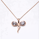 Yiwu Aceon Stainless Steel Rose Gold Animal Big Opal Stone Dragon Fly Pendant