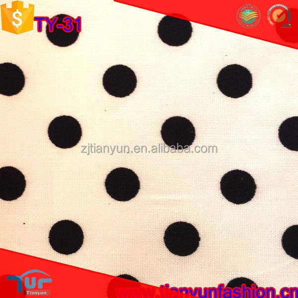 raw material polka dot designer woven hundred wholesale spandex cotton fabric