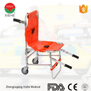 Medical appliances parts for leg folding quality guaranteed electric stair chair stretcher with wheel