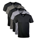 Custom blank V neck t shirts men's bamboo clothing wholesale