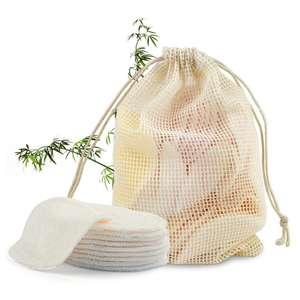 Reusable organic bamboo face cotton facial cleaner makeup remover pads