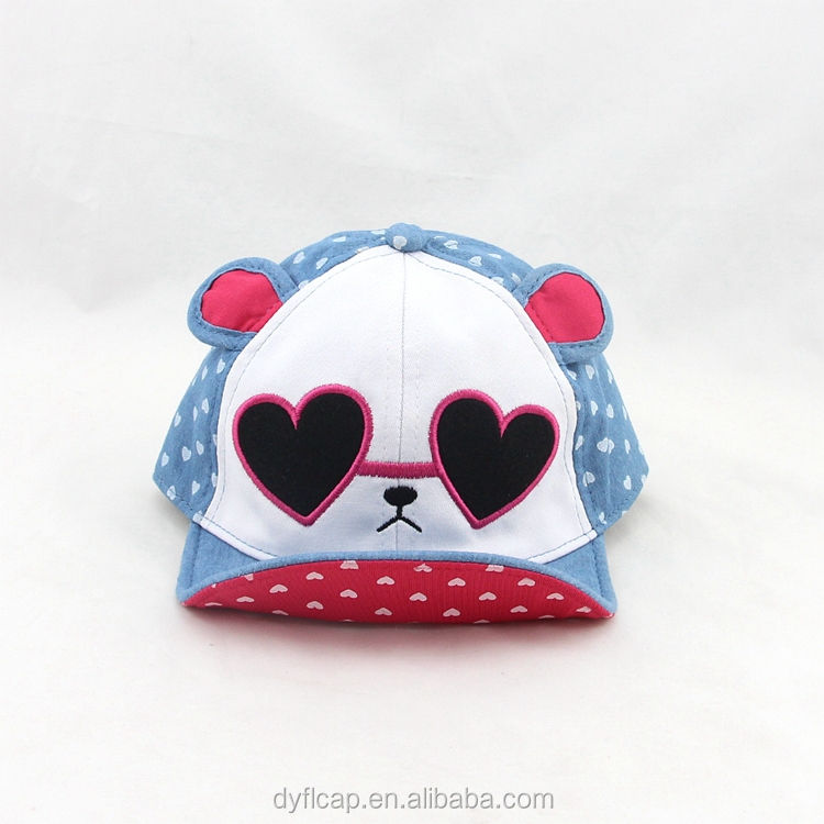 custom kids colorful snapback cap lovely and soft baby hats