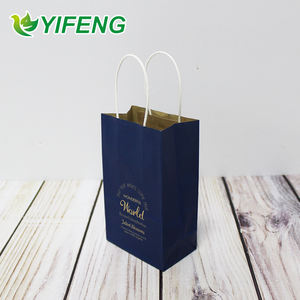 Cutomizer Die Cut Flat Handle High Quality Insulated Kraft Custom Printed Bottom Customized Shopping Paper Bag