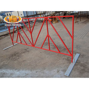 Metal Galvanized Steel Bike Rack Barricades for Crowd Control
